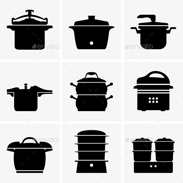 Pressure Cookers - Man-made Objects Objects
