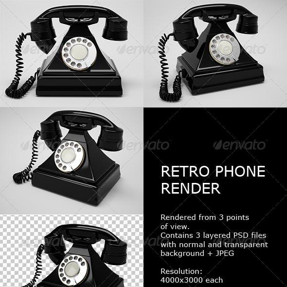 Retro Phone Render