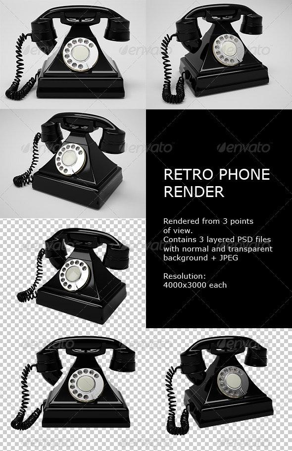 Retro Phone Render - Objects 3D Renders