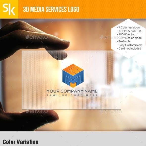 3d Media Services Logo