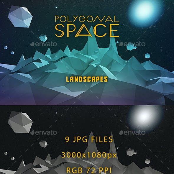 Low Poly Space Landscapes