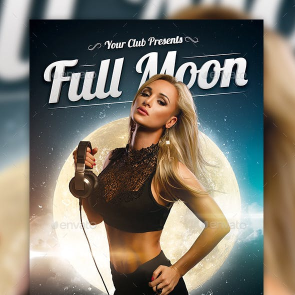 Full Moon Party Flyer Template