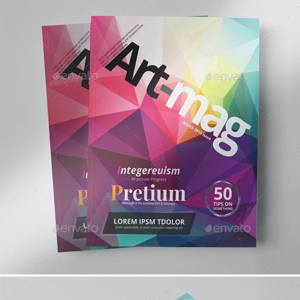 24 Pages Art Magazine - Photoshop PSD