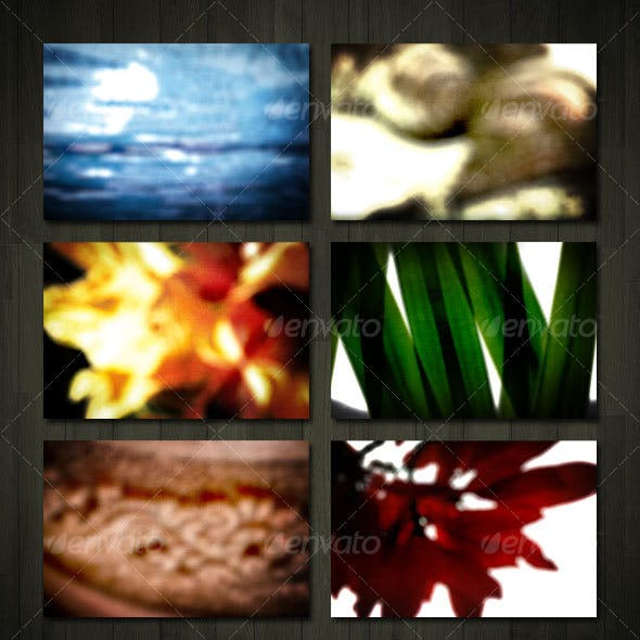 Abstract Blurry Background Set