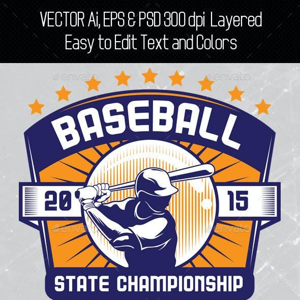Baseball T-shirt Template