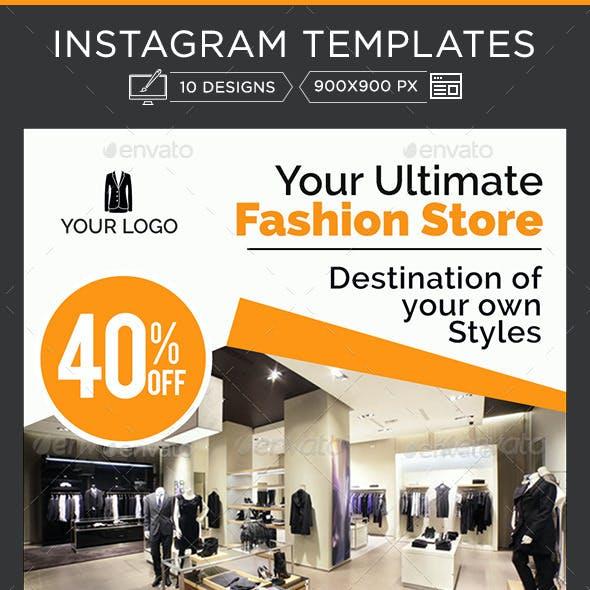 Fashion Instagram Banners - 10 Designs