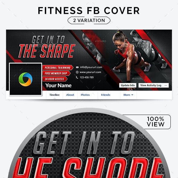 Fitness Facebook Covers - 2 Designs