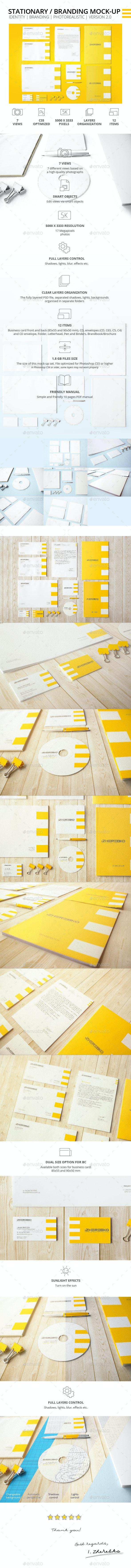 Stationary / Branding Photorealistic Mock-up - Stationery Print