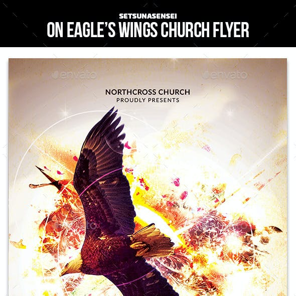 On Eagle's Wings Church Flyer