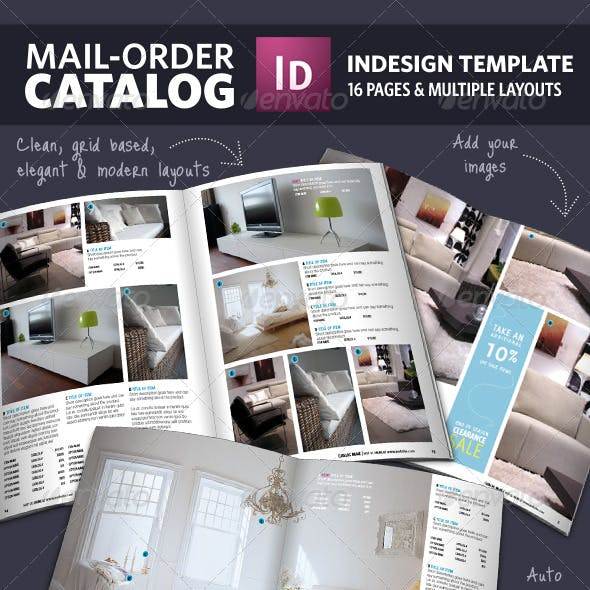 Mail Order Catalog InDesign Template