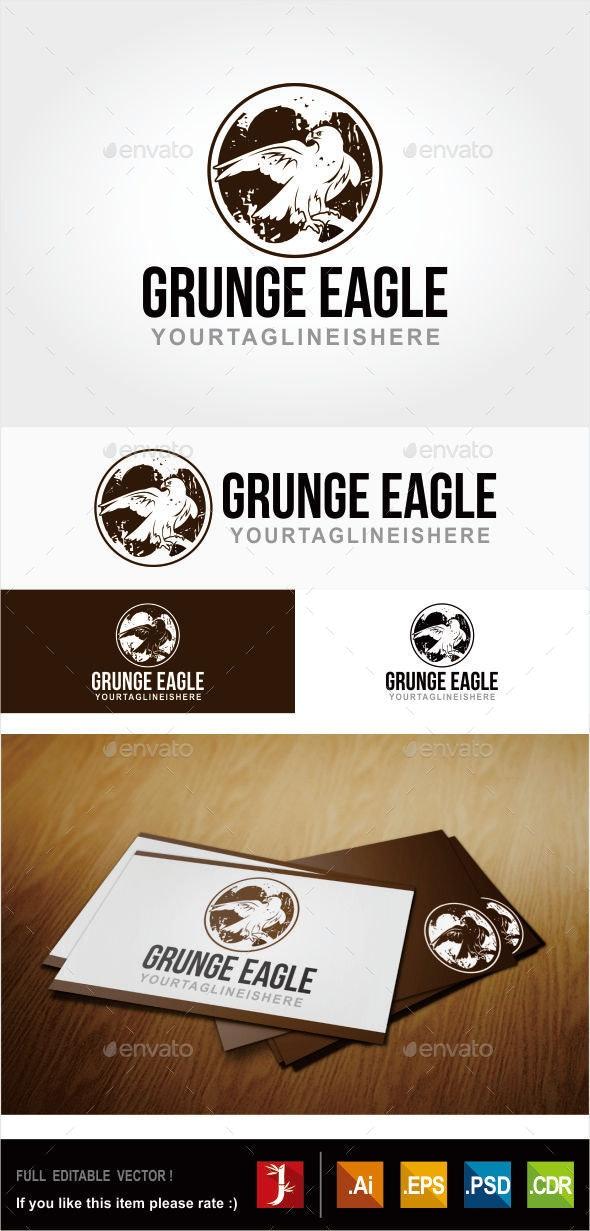 GRUNGE EAGLE - Symbols Logo Templates