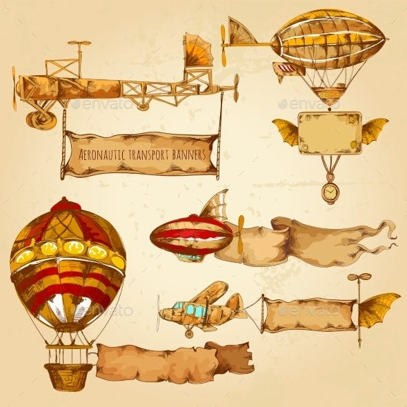 Airships with Banners
