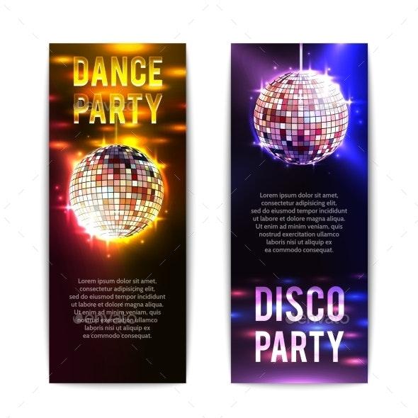 Vertical Disco Party Banners  - Miscellaneous Vectors