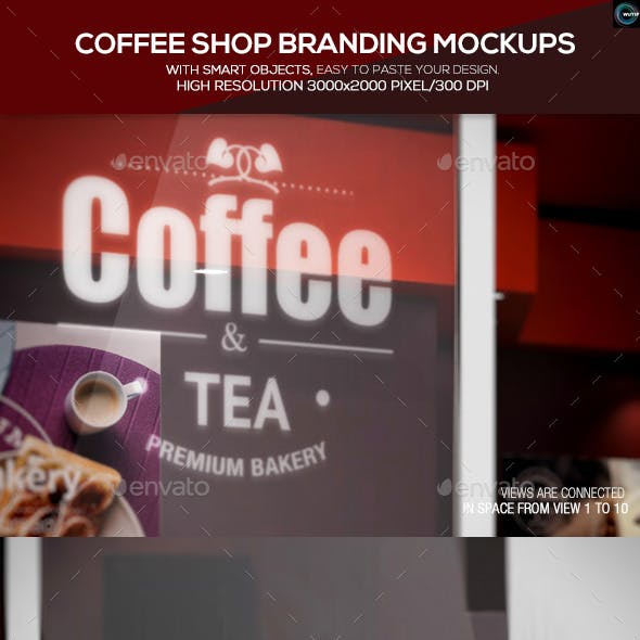 Coffee Shop Branding Mockups