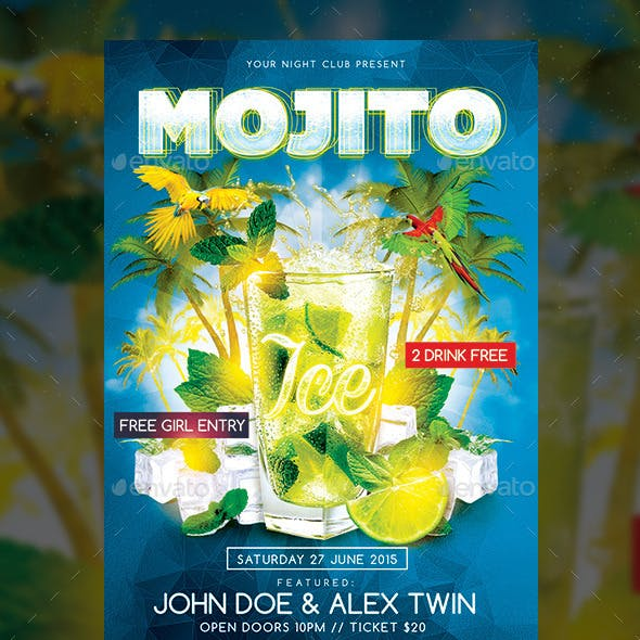 Ice Mojito Party Flyer