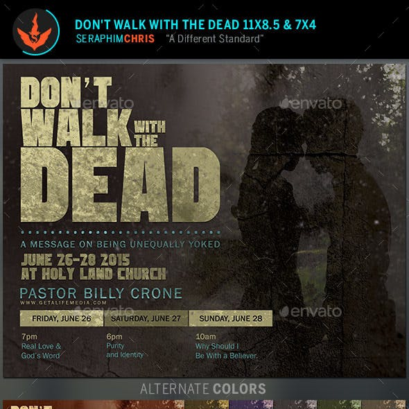 Don't Walk With The Dead: Church Flyer Template