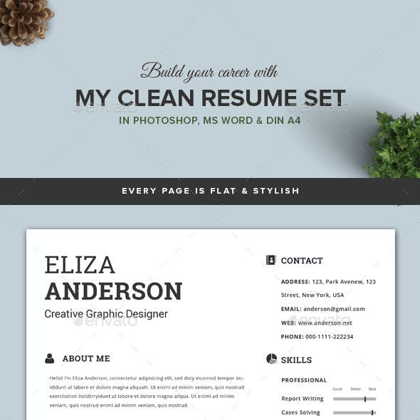 My Clean Resume/CV Set with MS Word