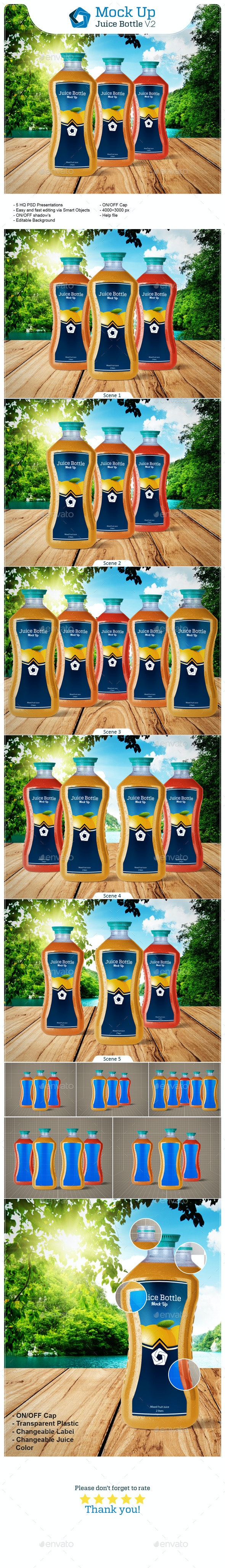 Juice Bottle V.2 - Food and Drink Packaging
