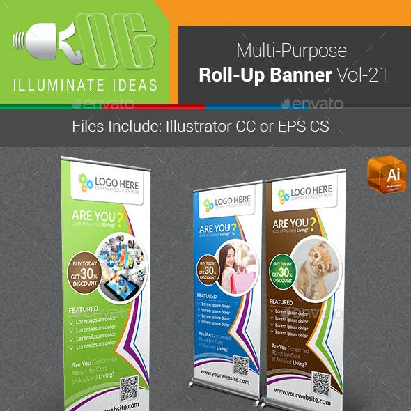 Multipurpose Business Roll-Up Banner Vol-21