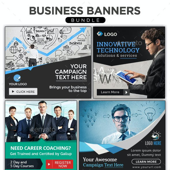 Business Banners Bundle - 4 Sets