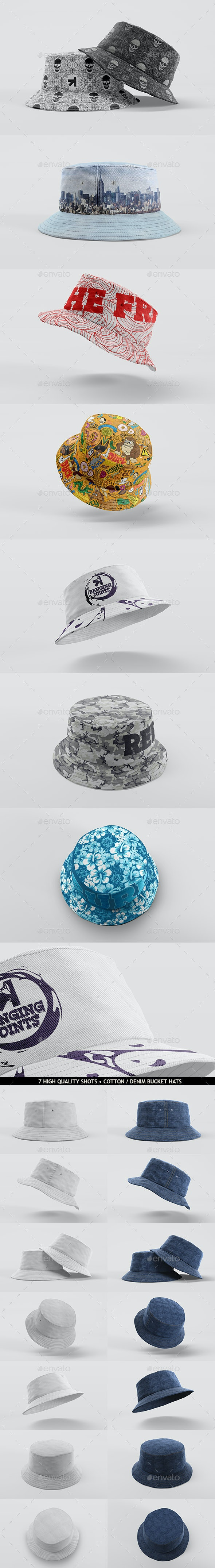 Bucket Hat Mockup Pack - Miscellaneous Apparel