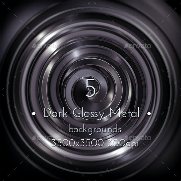 Spiral Glossy Metal Background