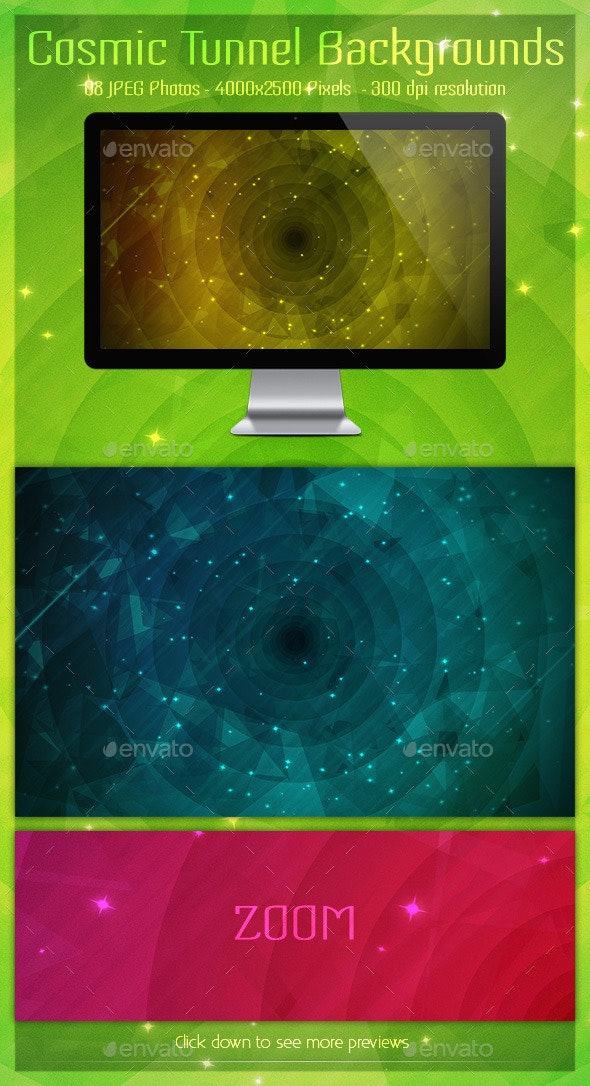 Cosmic Tunnel Backgrounds - Backgrounds Graphics