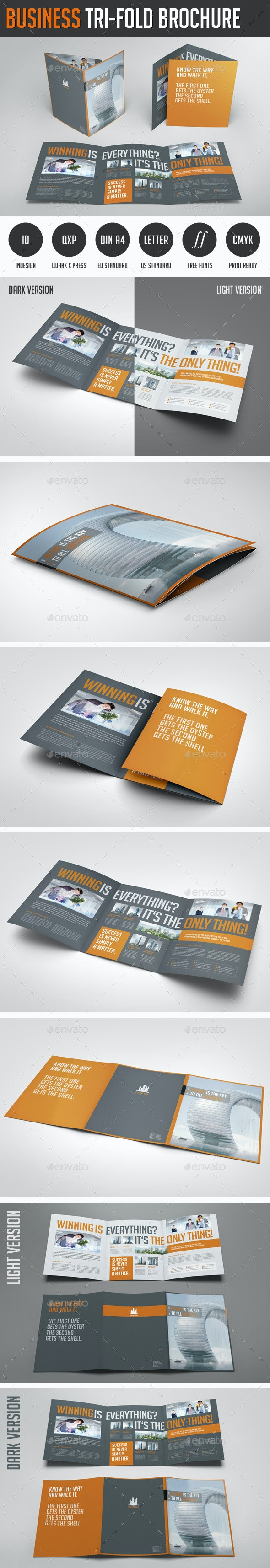 Business Image Trifold Brochure - Corporate Brochures