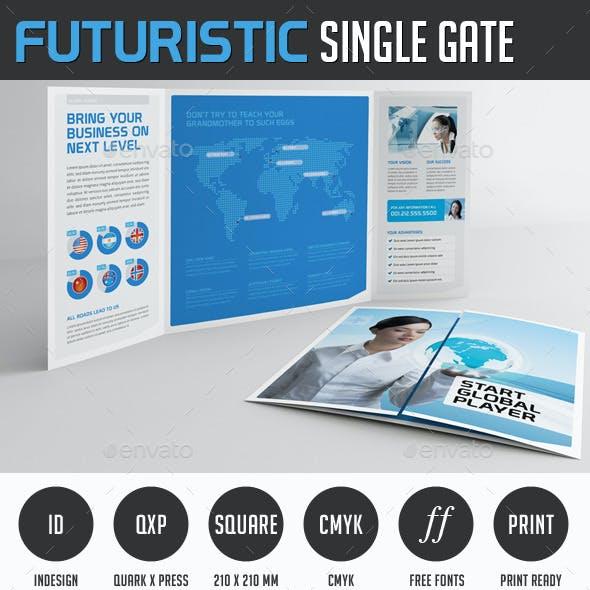 Futuristic Gate Fold Flyer