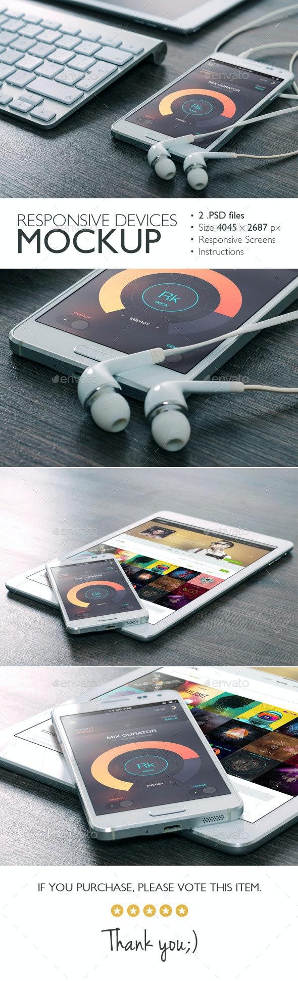 Responsive Devices Mockup v.2 - Mobile Displays