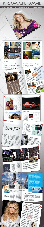 Pure Magazine Template - Magazines Print Templates