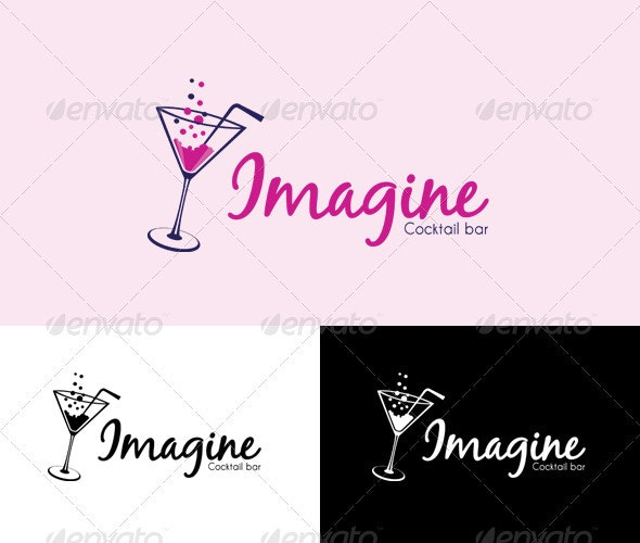 Cocktail bar logo - Food Logo Templates