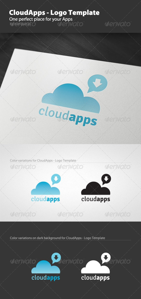 Cloud Apps - Logo Template - Vector Abstract