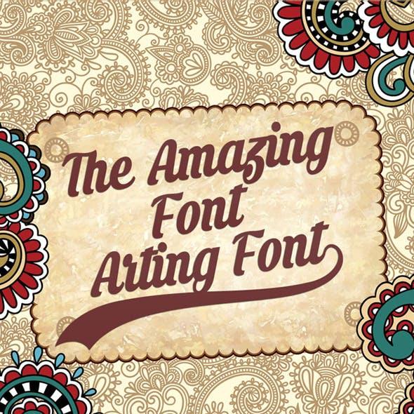 Arting Font