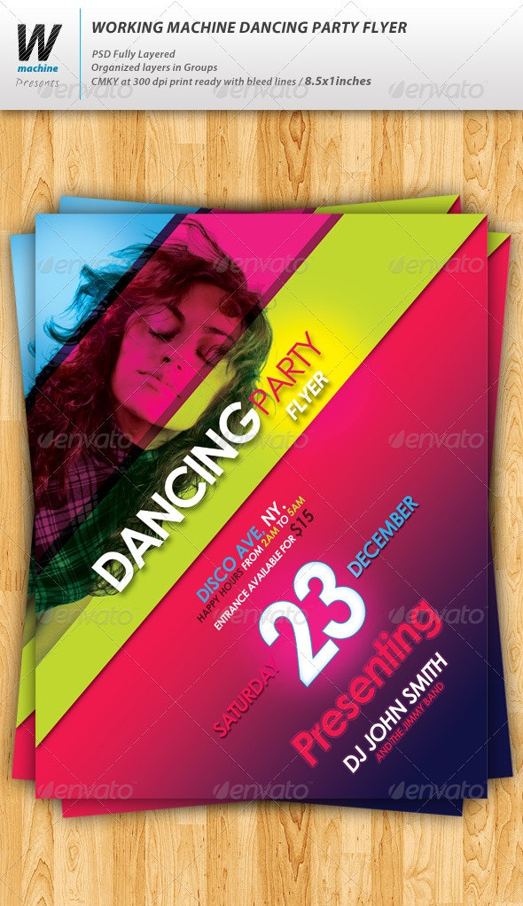 Dancing Party Flyer - Clubs & Parties Events
