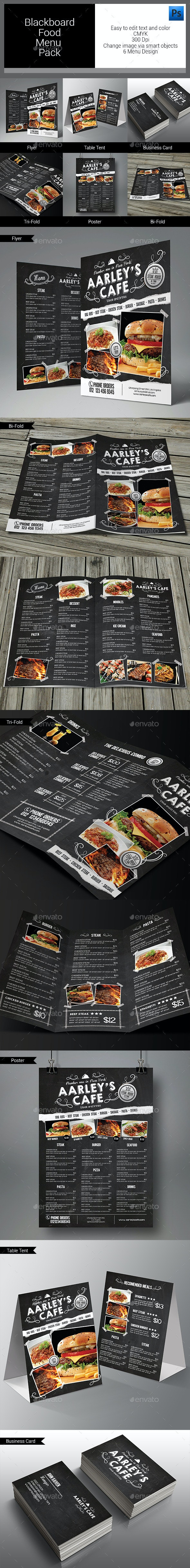 Blackboard Food Menu Bundle - Food Menus Print Templates