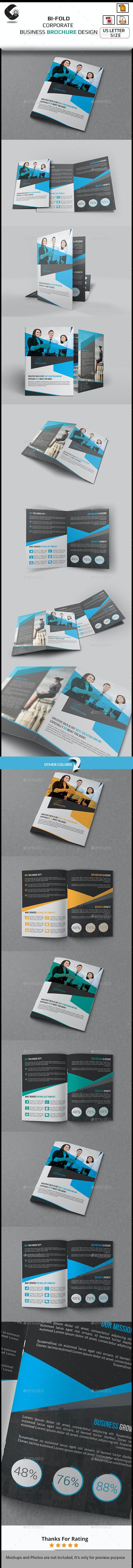 Company Bi Fold Brochure Template - Corporate Brochures