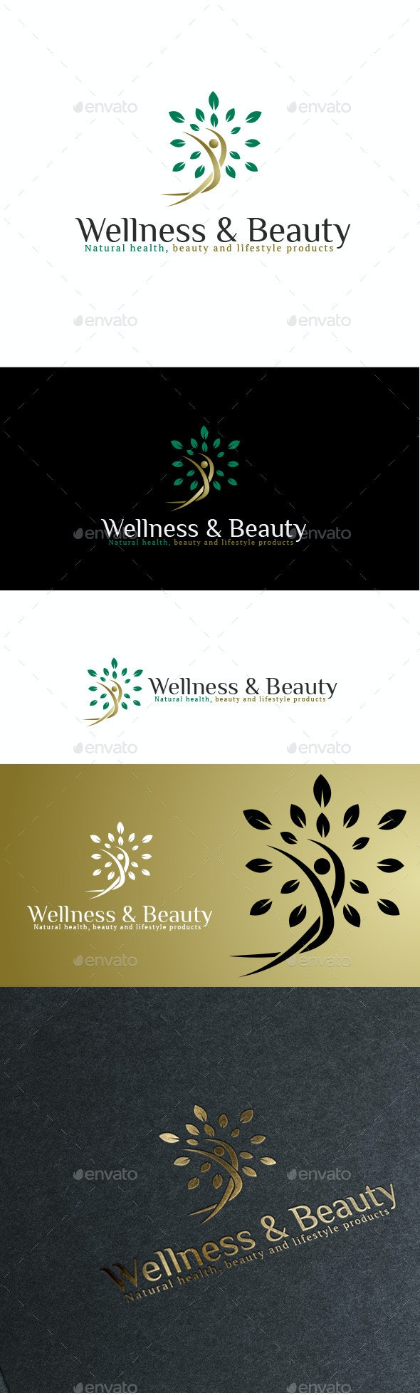 Naturals Wellness & Beauty Logo - Nature Logo Templates