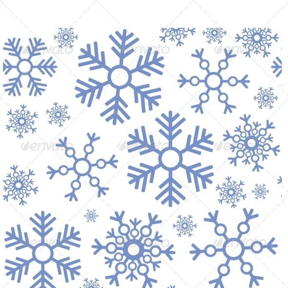Seamless Snowflake Texture 463