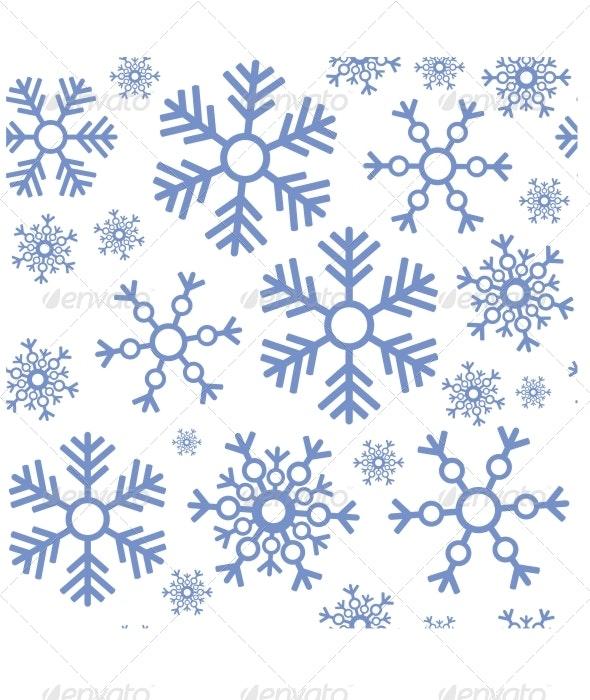 Seamless Snowflake Texture 463 - Patterns Decorative