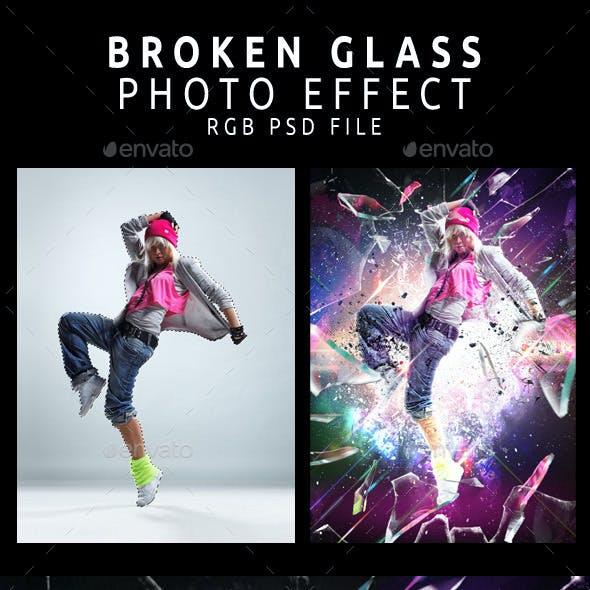 Broken Glass Photo Template