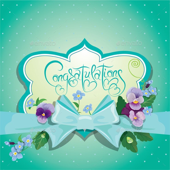 Congratulations Card - Borders Decorative