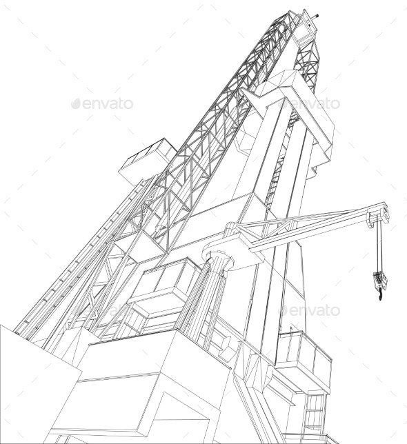 Oil Rig - Buildings Objects