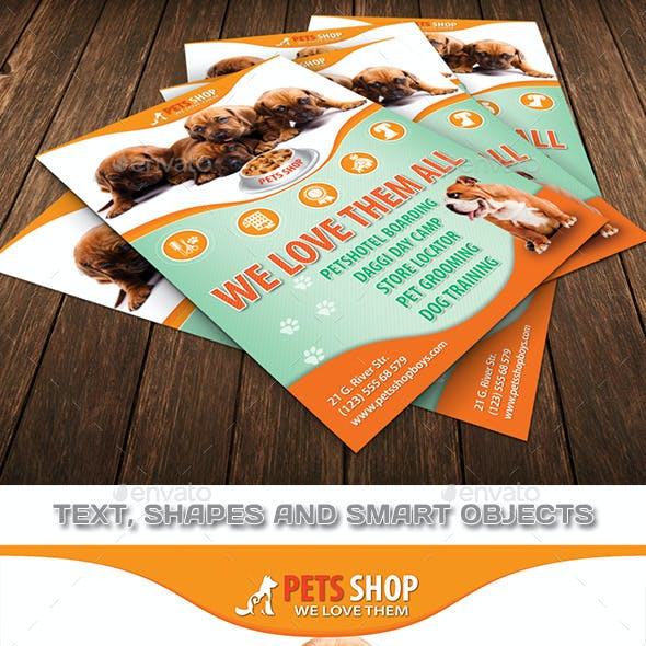 Pets Store Flyer Template 82
