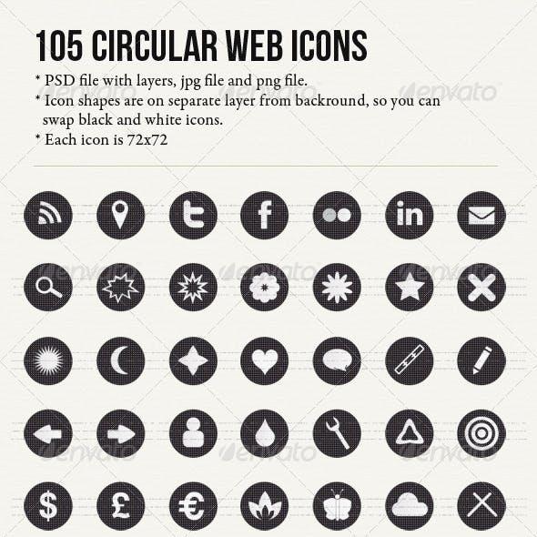 105 Circular Textured Icons