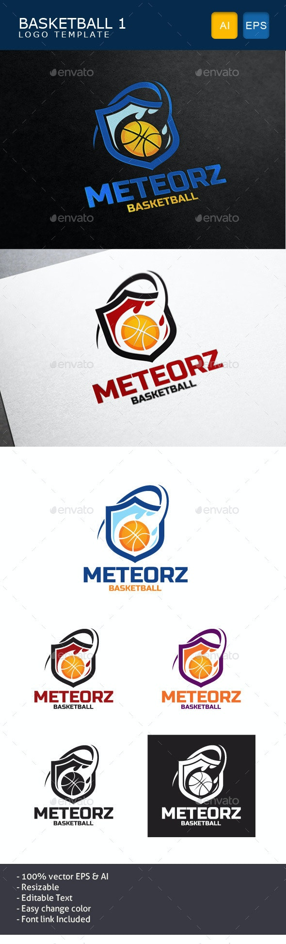 Basketball Logo - Objects Logo Templates