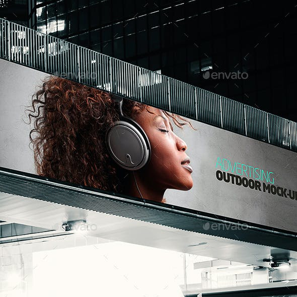 Outdoor Banner Advertising Mock-ups