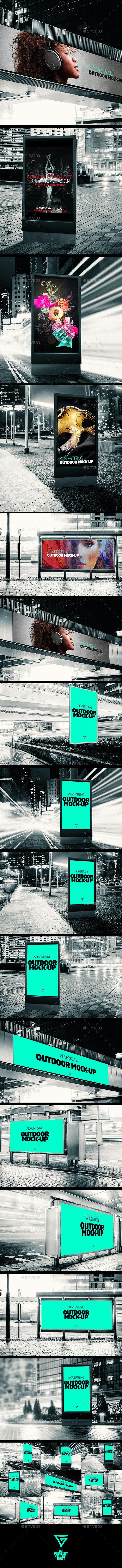 Outdoor Banner Advertising Mock-ups - Signage Print