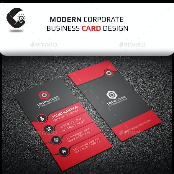 Creative Business Card-Vertical