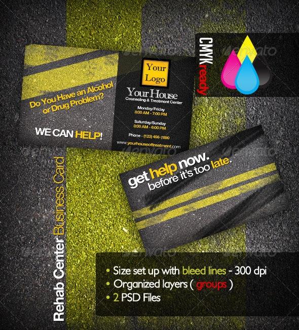Rehabilitation Business Card - Grunge Business Cards